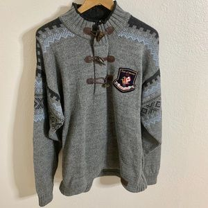 Dale of Norway 2010 Olympic Horn Button Sweater